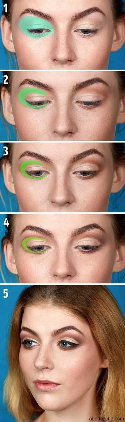 ۵ تکنیک آرایش چشم