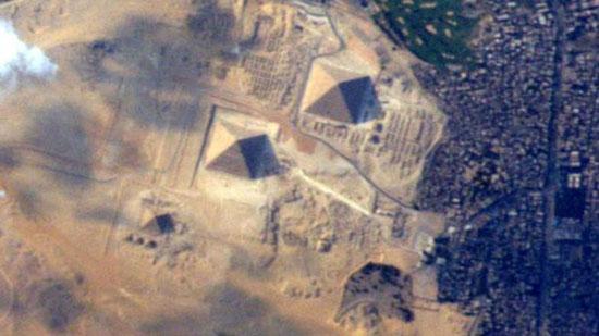 عکس اهرام مصر از فضا
