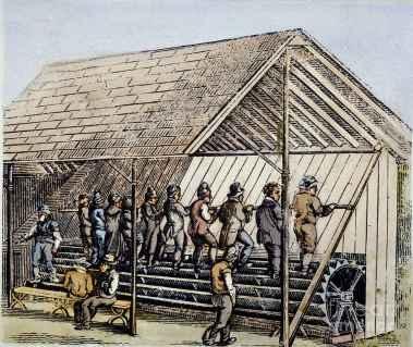 تردمیل برای شکنجه زندانیان