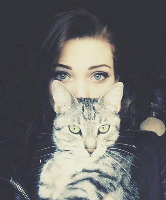 عکس پروفایل دخترونه با گربه