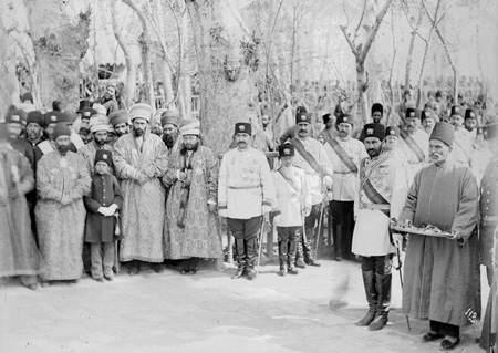 مقامات و درباریان در مراسم سلام نوروزی