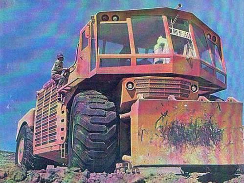 بزرگترین بولدوزر چرخ لاستیکی Western 2000