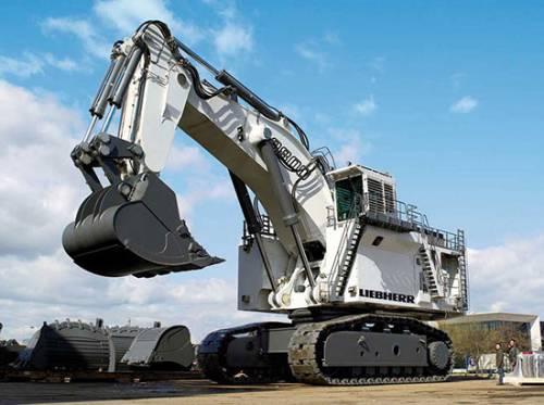 بزرگترین بیل مکانیکی Liebherr R9800