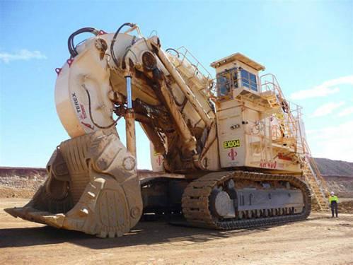 بزرگترین شاول هیدرولیکی Terex RH400