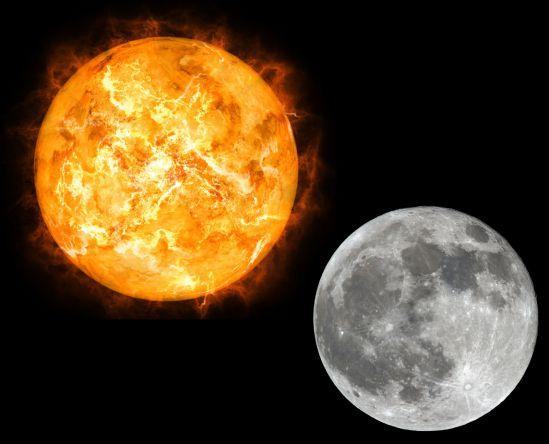 چرا گاهی در یک روز روشن، هم ماه دیده میشود و هم خورشید؟