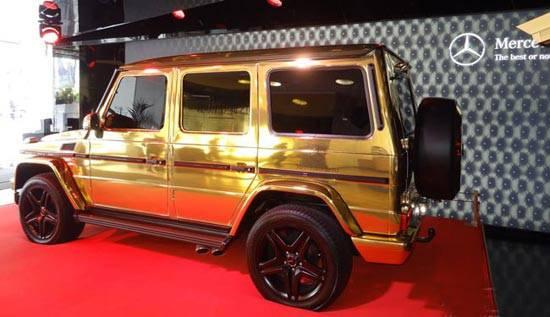 اتومبیل مرسدس بنز از طلای 24 عیار ساخته شده است